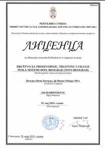 Licenca za obavljanje poslova bezbednosti i zdravlja na radu